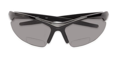 Folded of The Radley Polarized Bifocal Reading Sunglasses in Black with Smoke