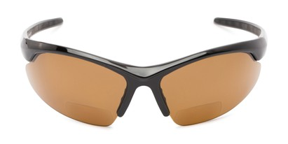 Front of The Radley Polarized Bifocal Reading Sunglasses in Black with Amber