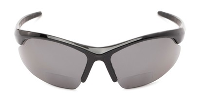 Front of The Radley Polarized Bifocal Reading Sunglasses in Black with Smoke