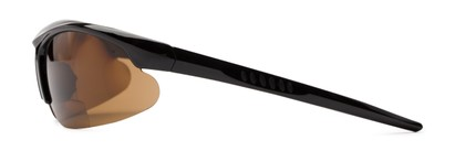 Side of The Radley Polarized Bifocal Reading Sunglasses in Black with Amber