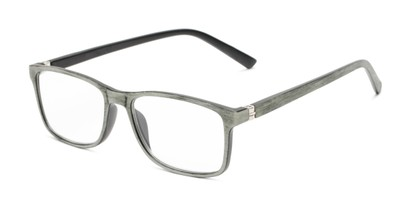 Angle of The Randall in Green Wood Print, Men's Rectangle Reading Glasses