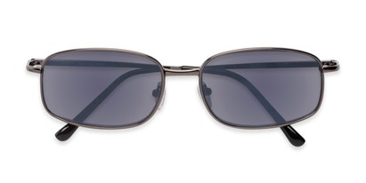 Folded of The Randy Reading Sunglasses in Glossy Grey with Smoke