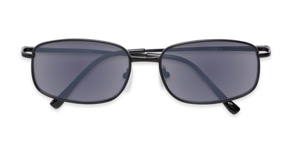 Folded of The Randy Reading Sunglasses in Matte Black with Smoke