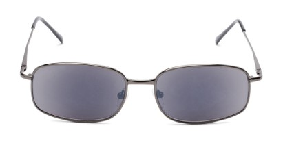 Front of The Randy Reading Sunglasses in Glossy Grey with Smoke