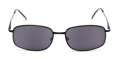 Front of The Randy Reading Sunglasses in Matte Black with Smoke