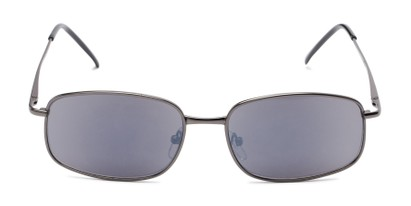 Front of The Randy Reading Sunglasses in Matte Grey with Smoke