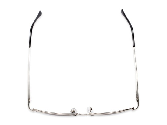 Overhead of The Randy Reading Sunglasses in Matte Silver with Smoke