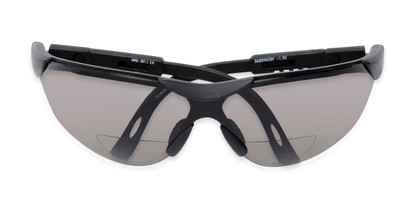 Folded of The Raymond Bifocal Safety Reading Sunglasses in Black with Smoke