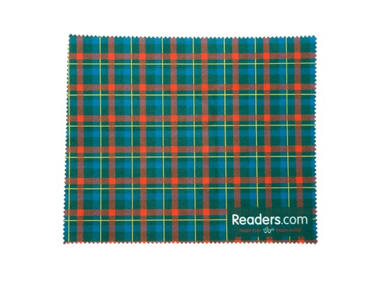 Angle of Readers.com Microfiber Lens Cleaning Cloth in Green/Red Plaid, Women's and Men's  Cleaning Cloths