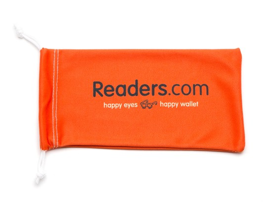 Angle of Readers.com Microfiber Pouch in Orange, Women's and Men's  Soft Cases / Pouches