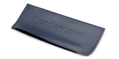 Front of Reading Glasses Pouch in Blue