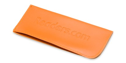 Front of Reading Glasses Pouch in Orange