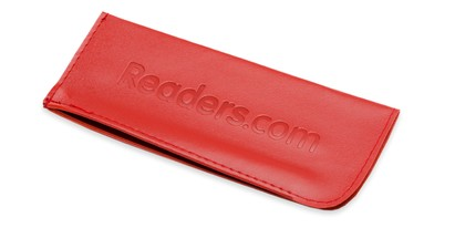 Front of Reading Glasses Pouch in Red