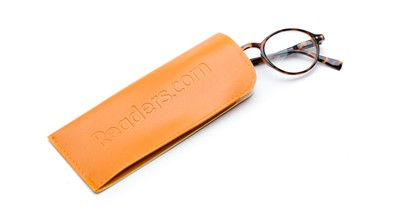 Detail of Reading Glasses Pouch in Orange