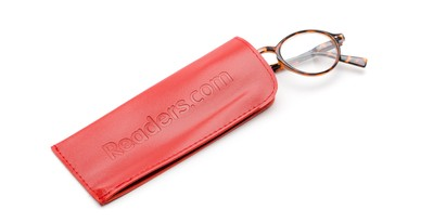 Detail of Reading Glasses Pouch in Red