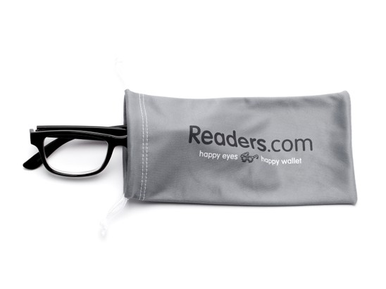 Detail of Readers.com Microfiber Pouch in Grey