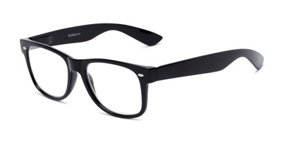 Angle of The Red Bluff in Black, Women's and Men's Retro Square Reading Glasses