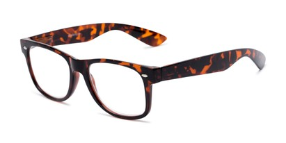 Angle of The Red Bluff in Dark Tortoise, Women's and Men's Retro Square Reading Glasses