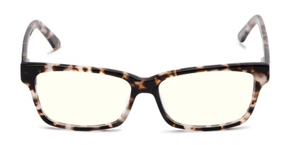 Front of The Reid Blue Light Blocking Reader in Tan Tortoise