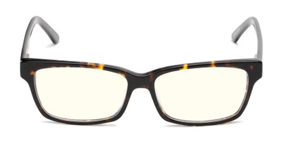 Front of The Reid Blue Light Blocking Reader in Brown Tortoise