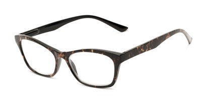 Angle of The Reya in Brown Multi, Women's Cat Eye Reading Glasses