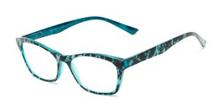 Angle of The Reya in Blue Multi, Women's Cat Eye Reading Glasses