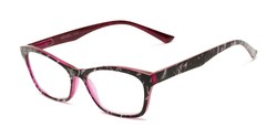 Angle of The Reya in Pink Multi, Women's Cat Eye Reading Glasses