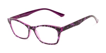 Angle of The Reya in Purple Multi, Women's Cat Eye Reading Glasses