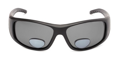 Front of The Richmond Polarized Bifocal Reading Sunglasses in Matte Black with Smoke