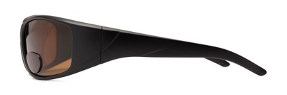 Side of The Richmond Polarized Bifocal Reading Sunglasses in Matte Black with Amber
