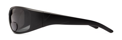 Side of The Richmond Polarized Bifocal Reading Sunglasses in Matte Black with Smoke