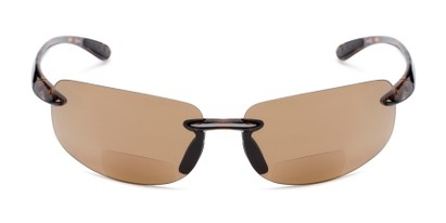 Front of The Riverside Bifocal Reading Sunglasses in Brown Tortoise Frame with Amber Lenses