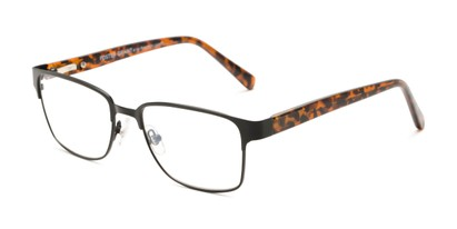 Angle of The Ronnie - Foster Grant for Readers.com in Black/Brown Tortoise, Women's and Men's