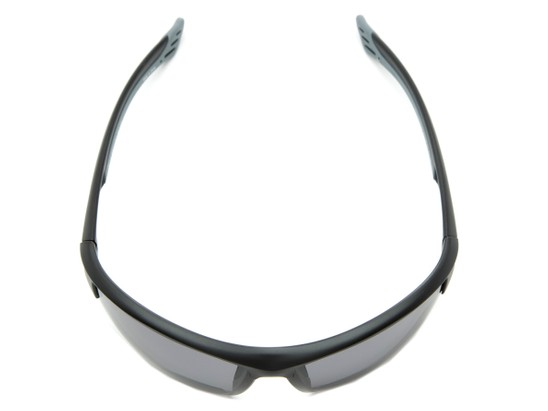 Overhead of The Roster Bifocal Reading Sunglasses in Matte Black with Smoke