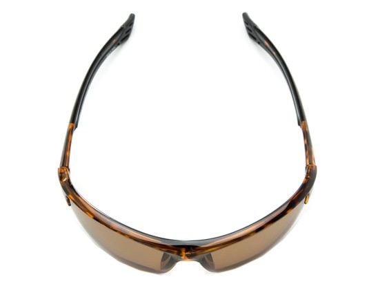 Overhead of The Roster Bifocal Reading Sunglasses in Tortoise with Amber