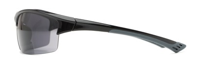 Side of The Roster Bifocal Reading Sunglasses in Glossy Black with Smoke