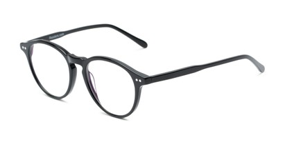 Angle of The Rowling Multifocal Reader in Black, Women's and Men's Round Reading Glasses