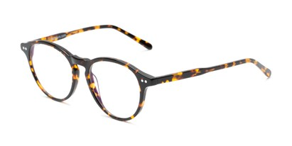 Angle of The Rowling Multifocal Reader in Tortoise, Women's and Men's Round Reading Glasses