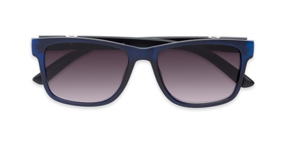 Folded of The Royal Reading Sunglasses in Matte Blue with Smoke