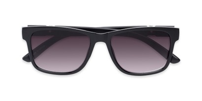 Folded of The Royal Reading Sunglasses in Glossy Black with Smoke