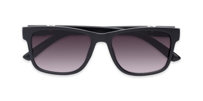 Folded of The Royal Reading Sunglasses in Matte Black with Smoke