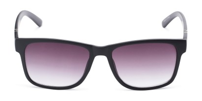Front of The Royal Reading Sunglasses in Glossy Black with Smoke