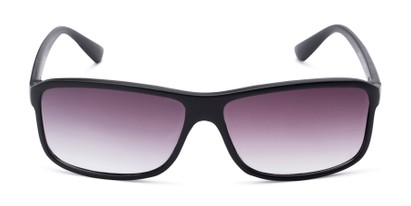 Front of The Rufus Reading Sunglasses in Matte Black with Smoke