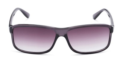 Front of The Rufus Reading Sunglasses in Clear Black With Smoke