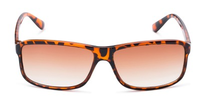 Front of The Rufus Reading Sunglasses in Glossy Tortoise with Amber