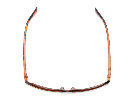Overhead of The Rufus Reading Sunglasses in Glossy Tortoise with Amber