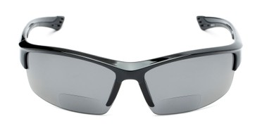 316a679e41f Front of The Rush Polarized Bifocal Reading Sunglasses in Black with Smoke