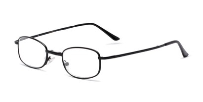 Angle of The Ryder Folding Reader in Black, Women's and Men's Oval Reading Glasses