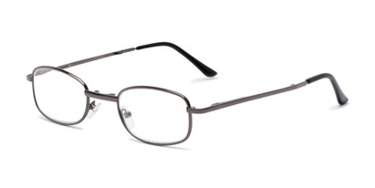 Angle of The Ryder Folding Reader in Glossy Grey, Women's and Men's Oval Reading Glasses