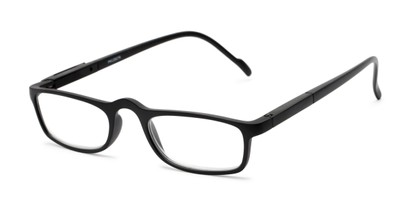 Angle of The Rye in Black, Women's and Men's Rectangle Reading Glasses